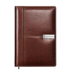 Kalenarz książkowy A5 VIP, oprawa brąz