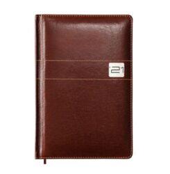 Kalendarz książkowy B5, oprawa ekoskóra brąz