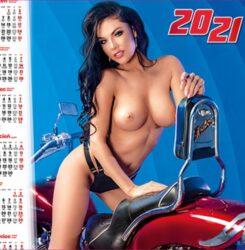 ikona kalendarz plakatowy A1 dziewczyna na mototrze