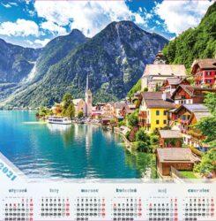 ikona kalendarz plakatowy Alpejskie Jezioro