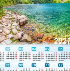 ikona kalendarz plakatowy morskie oko