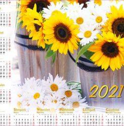 ikona kalendarz plakatowy słoneczniki
