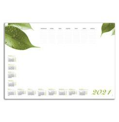 kalendarz blokowy liście