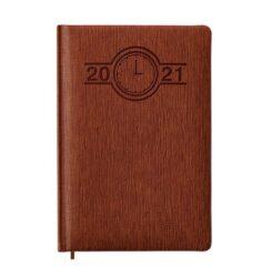kalendarz książkowy A5 brąz