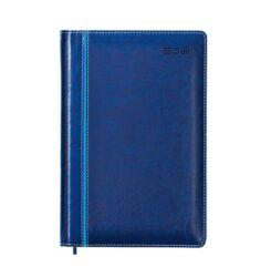 kalendarz książkowy A6 z klipsem magnetycznym granatowo - niebieski