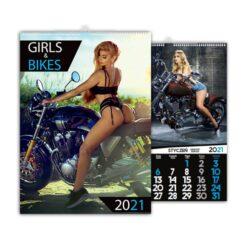 kalendarz wieloplanszowy girls and bikes
